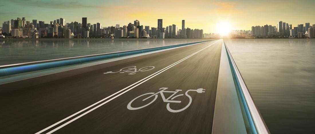 opmars van de e-bike