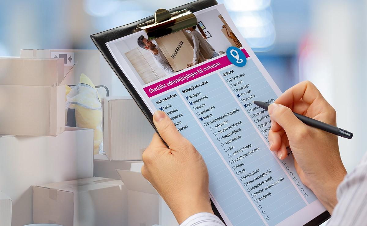 Verhuizen Alles wat je moet weten - Checklist adreswijzigingen | Verzekeruzelf